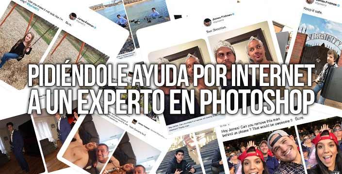 Pidiéndole ayuda por internet a un experto en Photoshop