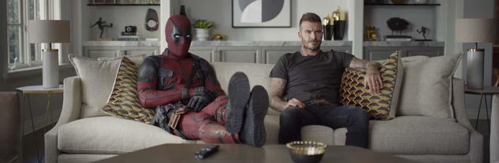Deadpool 2, pidiéndole disculpas a David Beckham