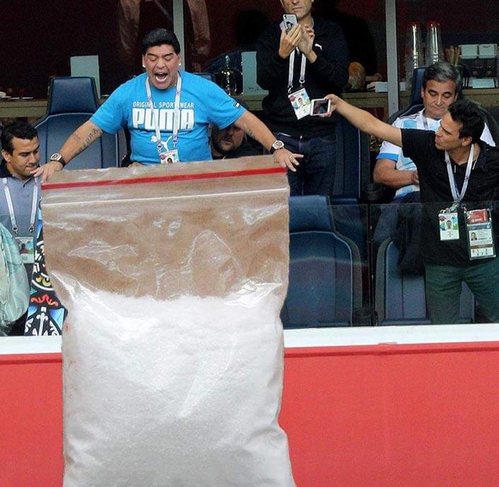 Los memes de Maradona en el Mundial de Rusia